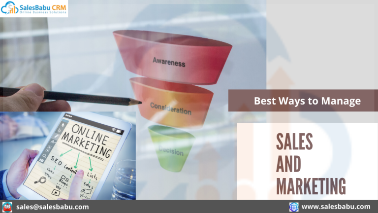 Best Ways to Manage Sales and Marketing