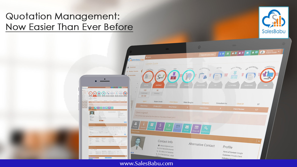 Quotation Management: Now Easier Than Ever Before : Salesbabu.com