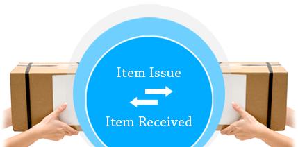 Item Issue & Item Receipt SalesBabu CRM