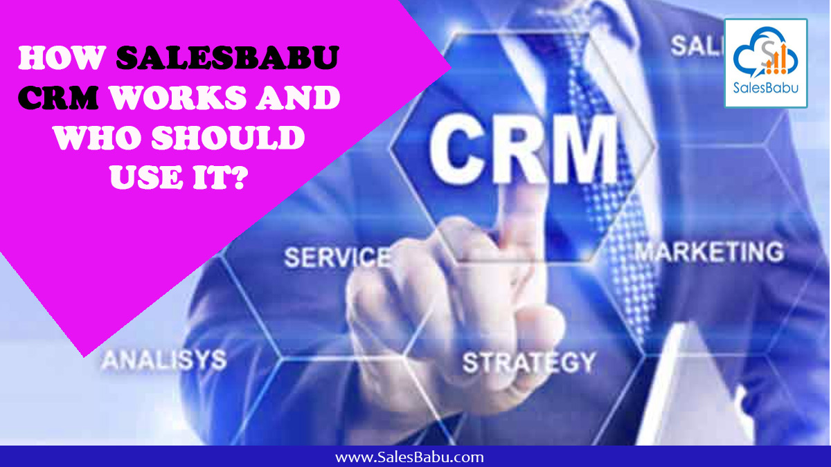 How SalesBabu CRM Works And Who Should Use it? : Salesbabu.com