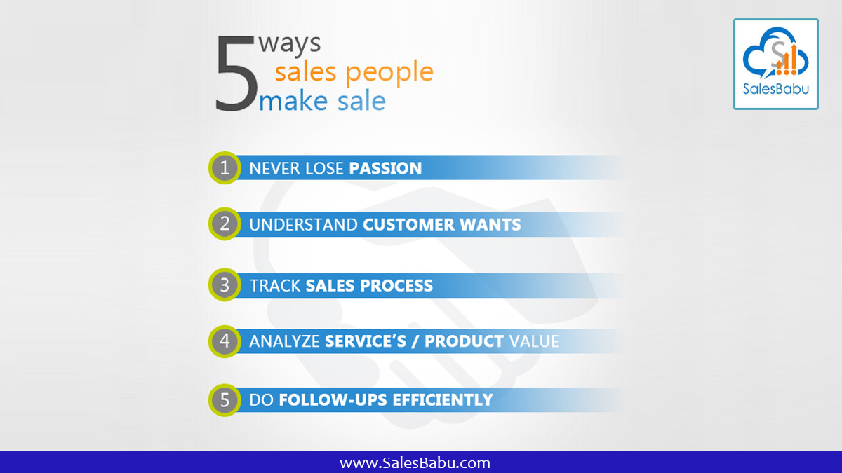 5 Ways Sales People Make Sales - Know more about Sales Management Software
