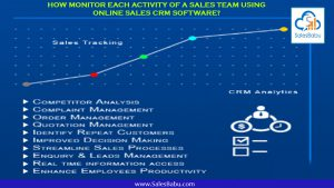 How Monitor Each Activity Of A Sales Team Using Online Sales CRM Software? : SalesBabu.com