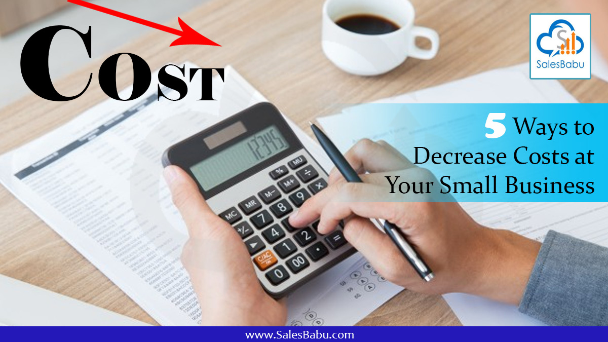 5 Ways to Decrease Costs at Your Small Business : SalesBabu.com