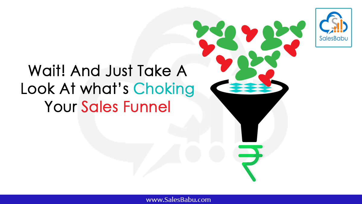 Wait! And Just Take A Look At what's Choking Your Sales Funnel : Salesbabu.com