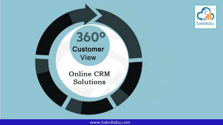 360 view of customer Online CRM Solutions