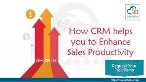 How SalesBabu CRM Helps Organization To Enhance Sales Productivity : SalesBabu.com