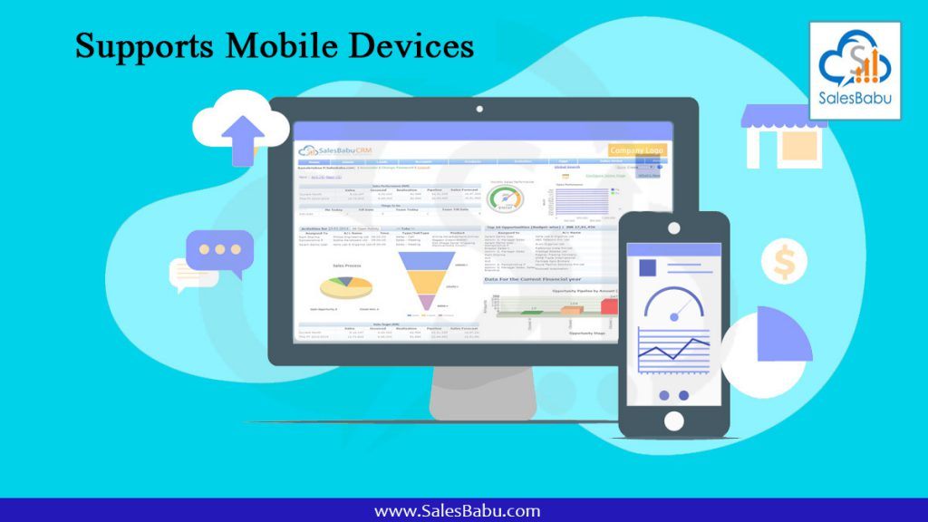 Supports Mobile Devices : SalesBabu.com