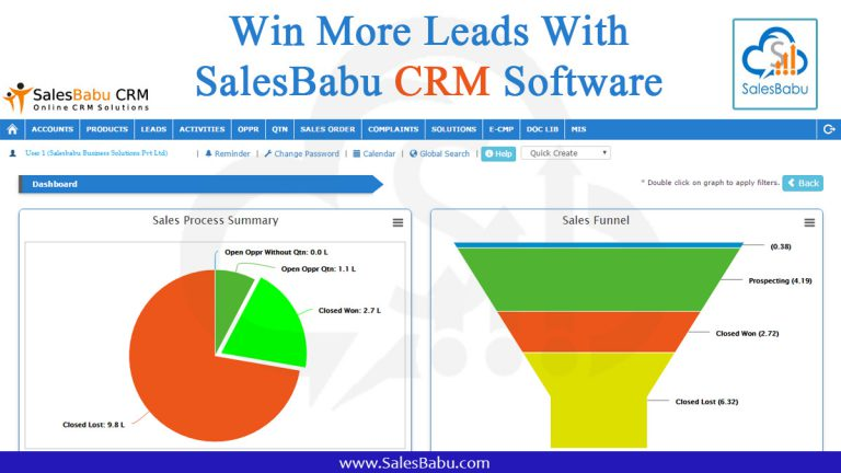 Win More Leads with SalesBabu CRM Software : SalesBabu.com