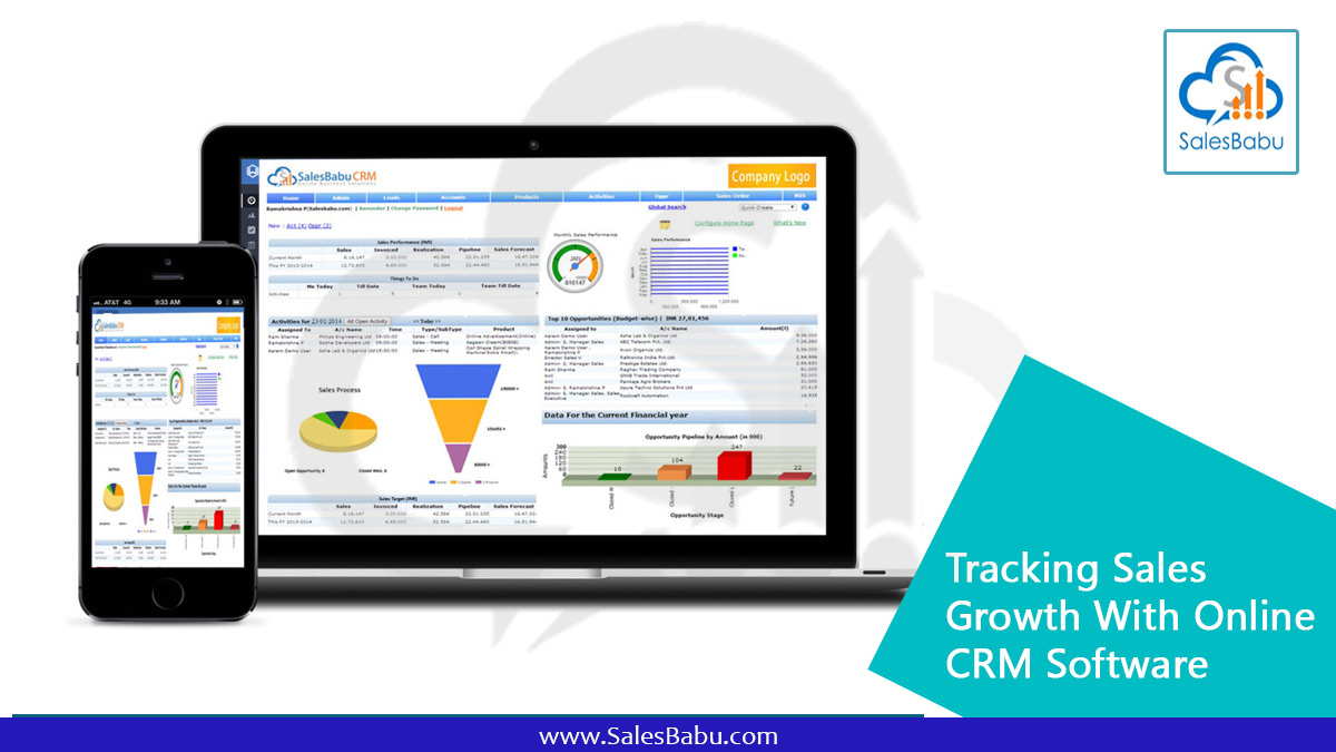 Tracking Sales Growth With Online CRM Software & Mobile CRM App