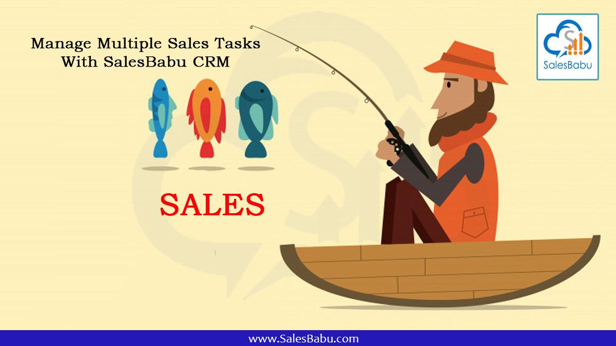 Manage multiple sales tasks with SalesBabu Online CRM Software