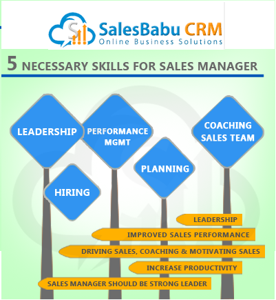 5 Necessary skills for sales manager : SalesBabu.com
