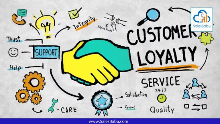 Retain your loyal customers : SalesBabu.com