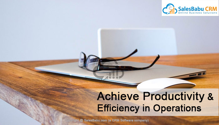 Achieve Productivity & Efficiency in Operations  : SalesBabu.com