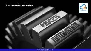 Automation of Tasks : SalesBabu.com