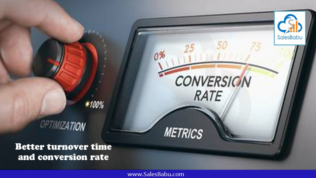 Better turnover time and conversion rate : SalesBabu.com