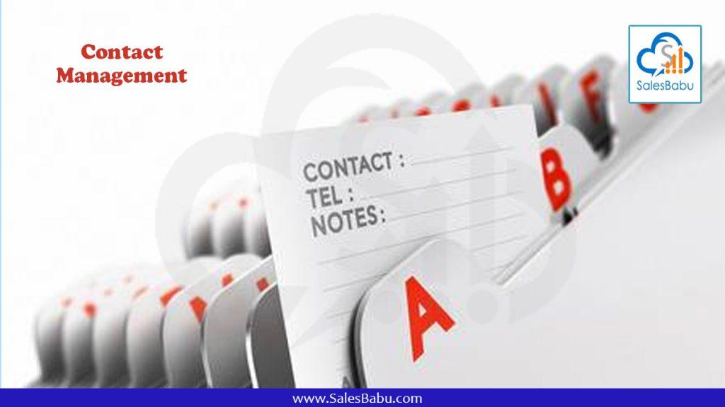 Contact Management : SalesBabu.com