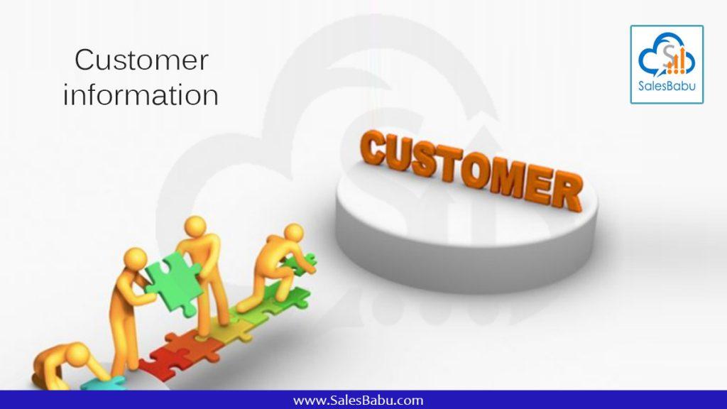Customer information : SalesBabu.com