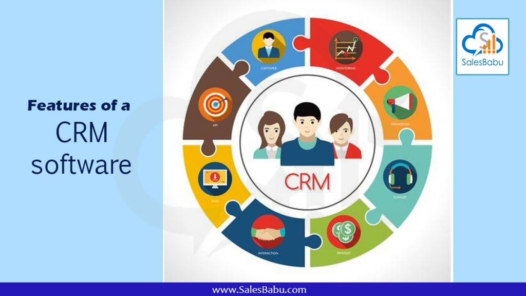 Features of a CRM software : SalesBabau.com