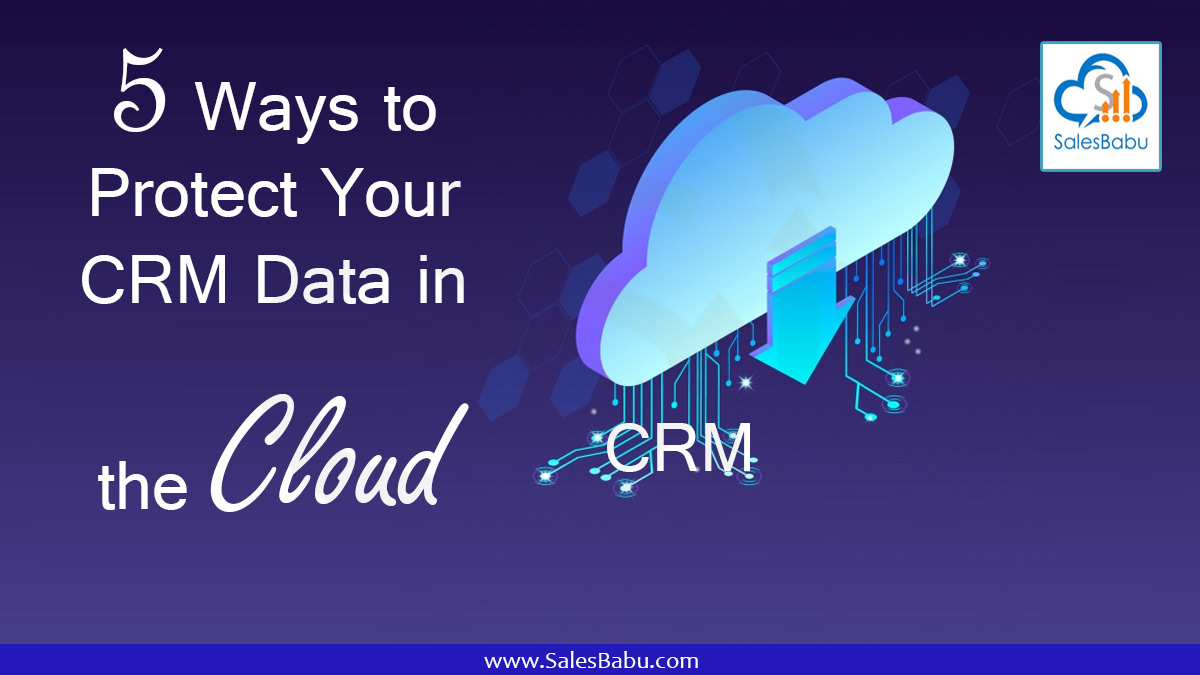 Five Ways to Protect Your CRM Data in the Cloud : SalesBabu.com