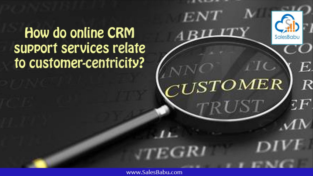How do online CRM support services relate to customer centricity : Salesbabu.com