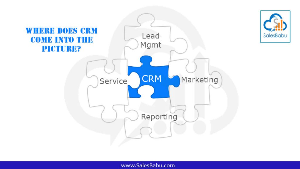 Where does CRM come into the picture : SalesBabucom