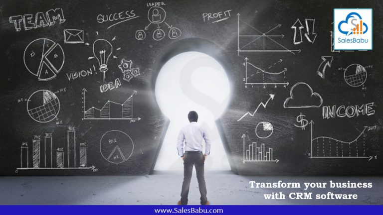 Transform your business with CRM software : SalesBabu.com