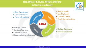 Benefits of Service CRM software in service industry