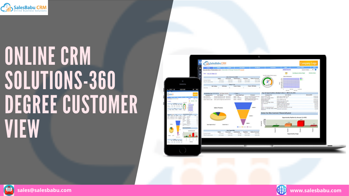 360 Degree Customer View Online CRM Solutions