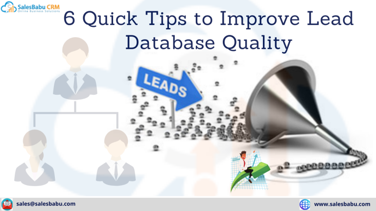 6 Quick Tips to Improve Lead Database Quality