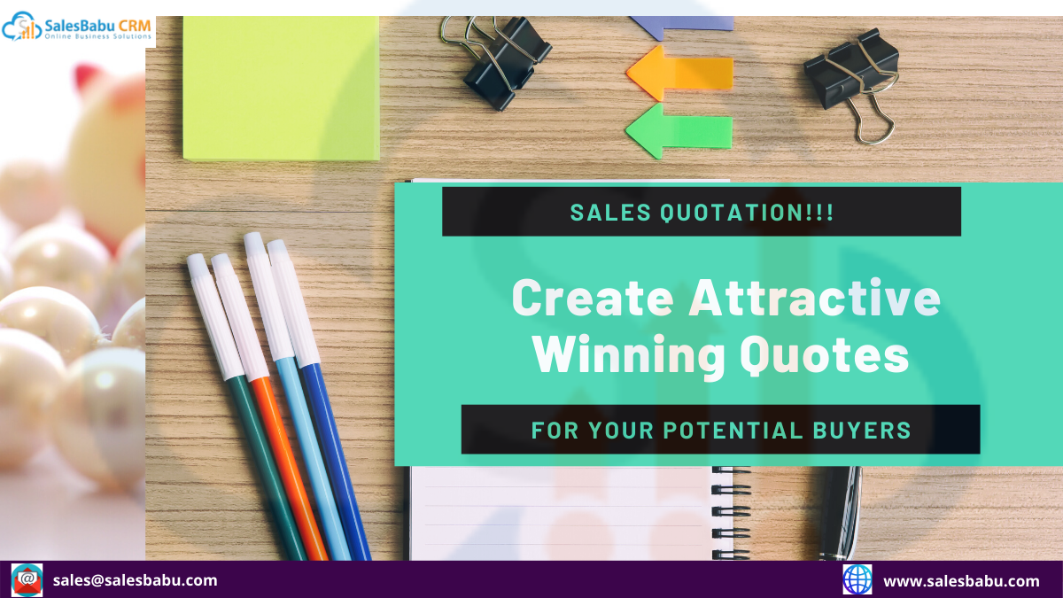 What Is Sales Quotation?| SalesBabu CRM Software