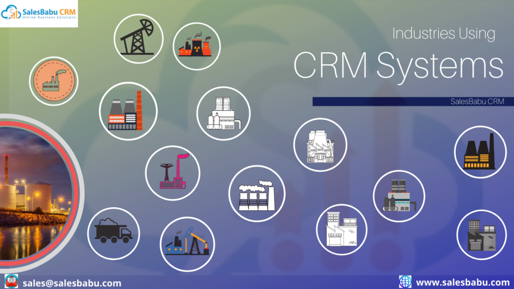 Industries using CRM systems