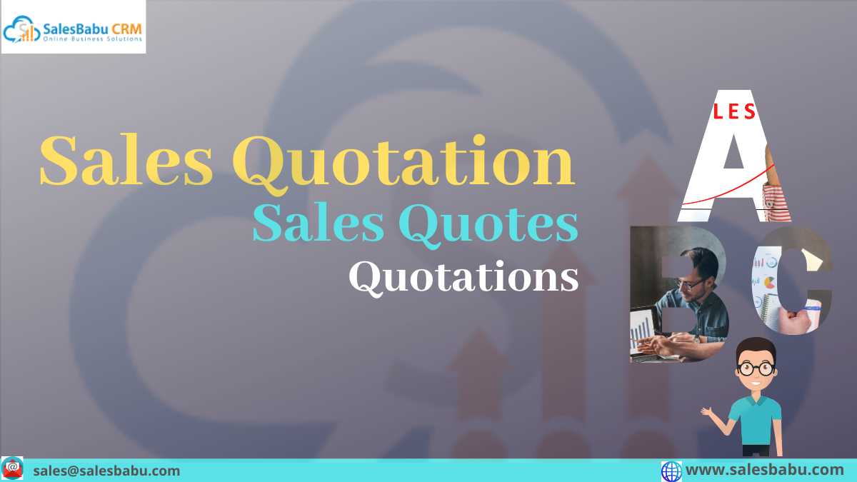 Sales Quotation Sales Quotes Quotations