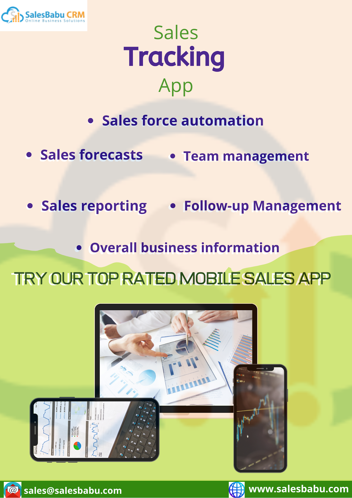 Sales Tracking App Features