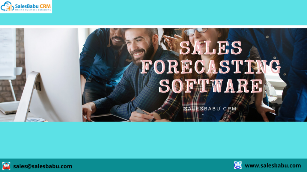 Sales forecasting software