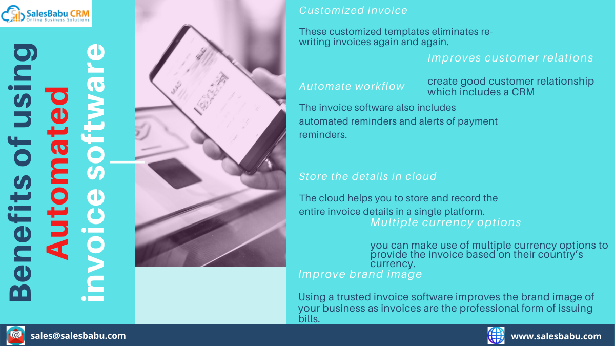 Benefits of using automated invoice software