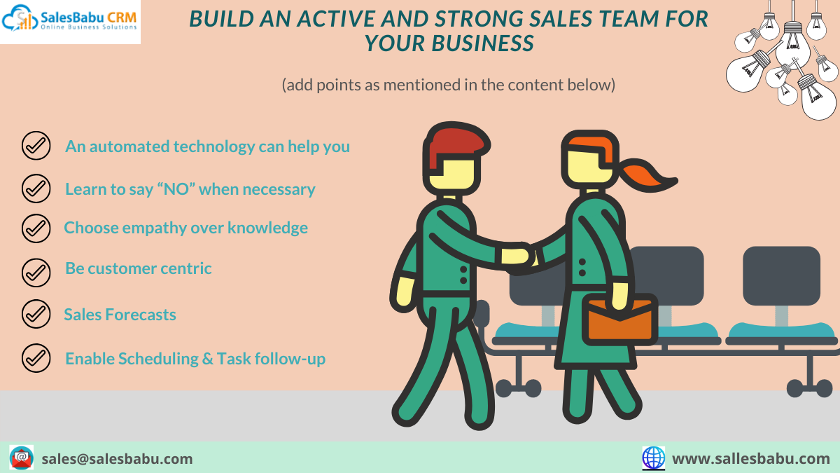 Build an active and strong sales team for your business