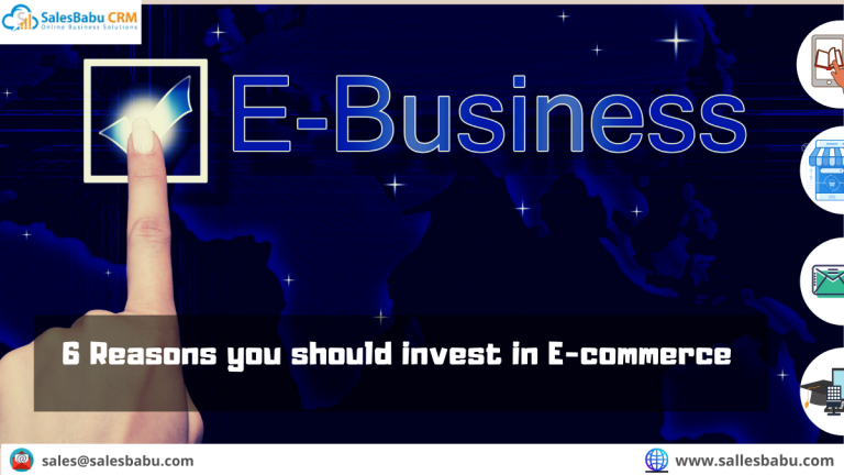 Top 6 Reasons to invest in E-commerce