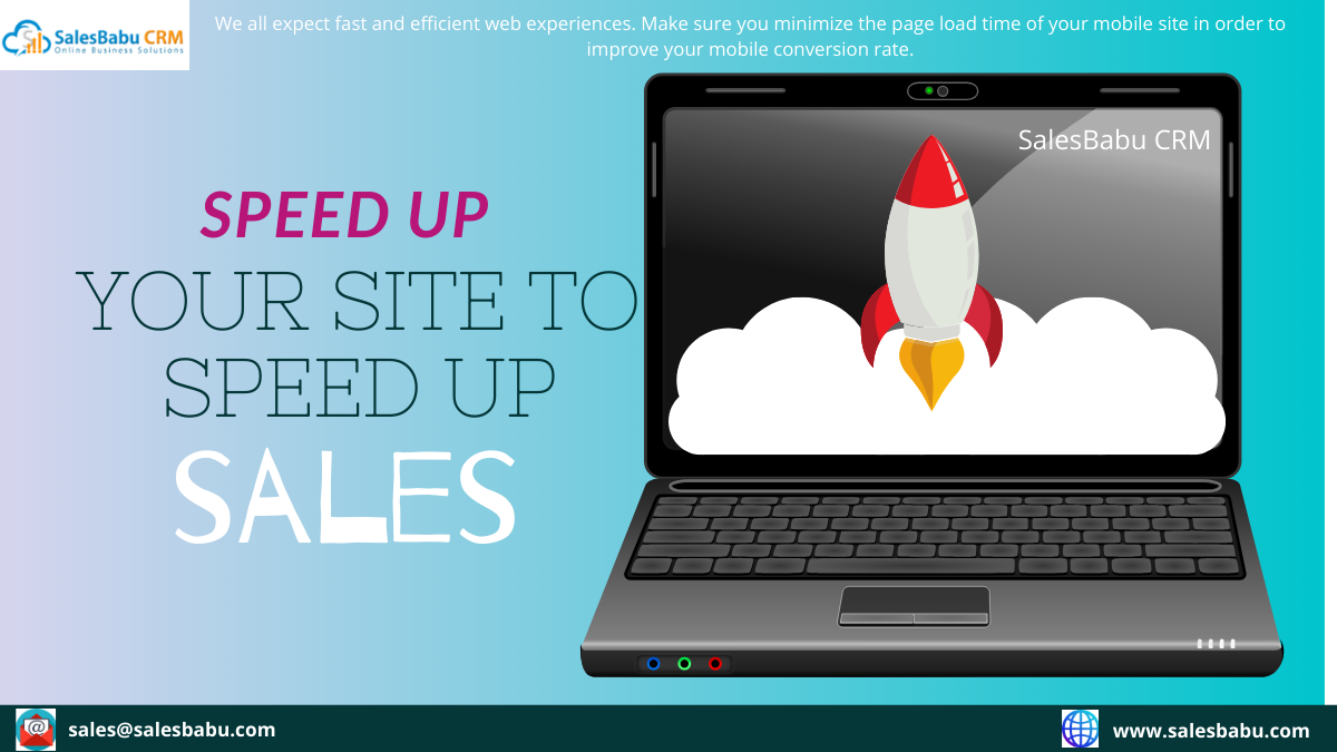 speed up your site to speed up sales