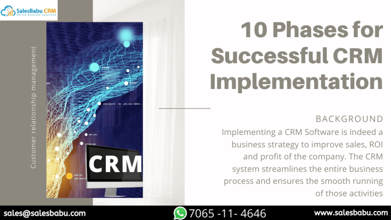 10 Phases for Successful CRM Implementation