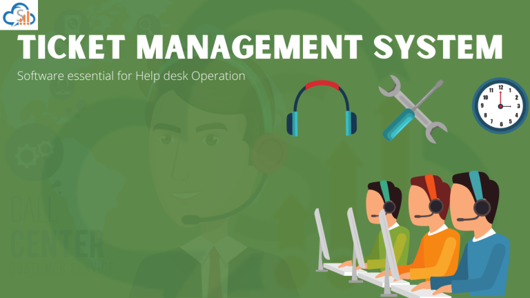 Helpdesk operation with the ticket management