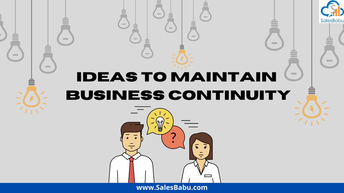 Ideas to maintain business continuity during COVID-19