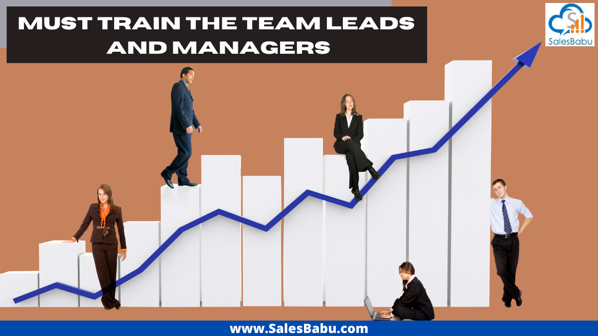 Train the team leads and managers